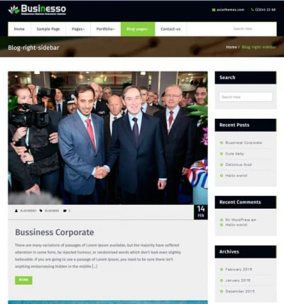 Шаблон WordPress - Businesso