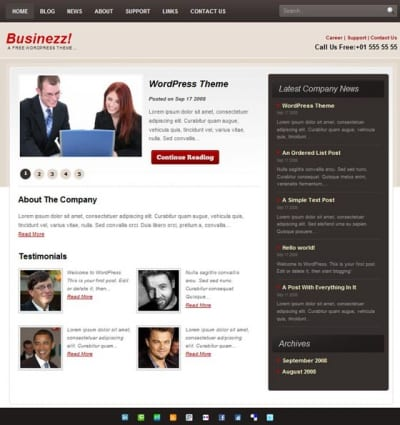 Шаблон WordPress - Businezz