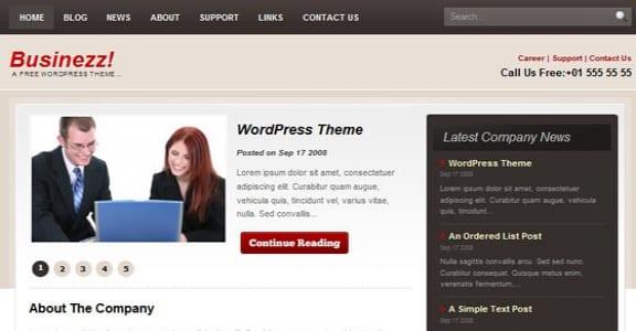 Шаблон Wordpress - Businezz