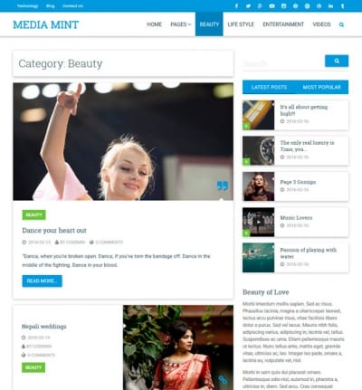 Шаблон WordPress - CPMmagz