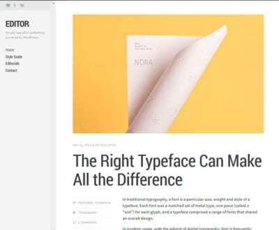 Шаблон WordPress - Editor