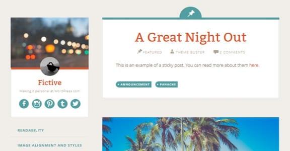 Шаблон Wordpress - Fictive