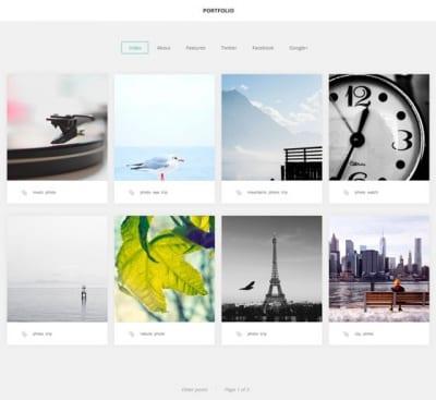 Шаблон WordPress - GK Portfolio