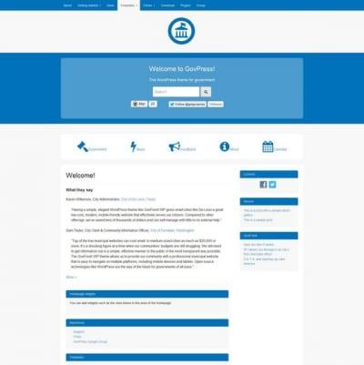 Шаблон WordPress - Govpress