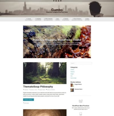Шаблон WordPress - Gumbo