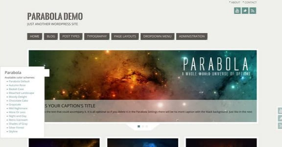 Шаблон Wordpress - Parabola