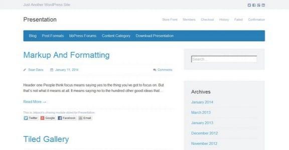 Шаблон Wordpress - Presentation Lite