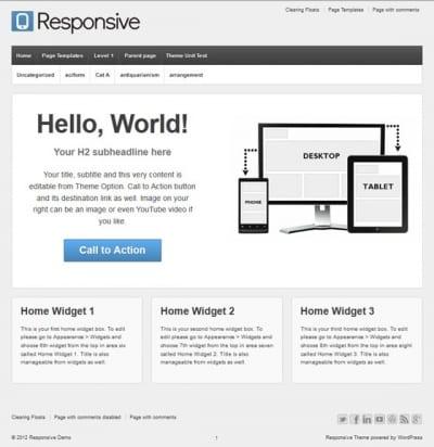 Шаблон WordPress - Responsive