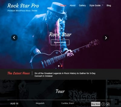 Шаблон WordPress - Rock Star