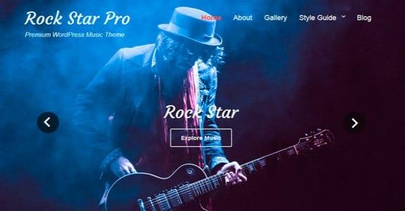 Шаблон Wordpress - Rock Star