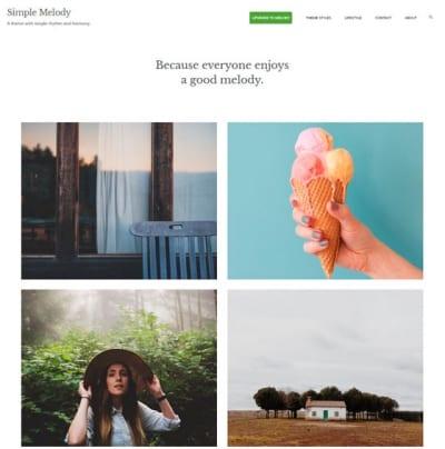 Шаблон WordPress - Simple Melody