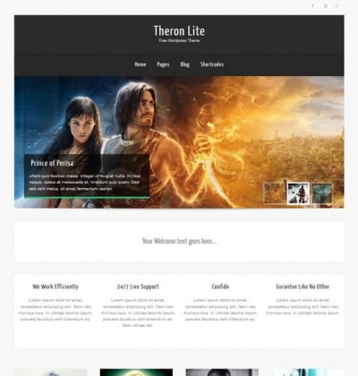 Шаблон WordPress - Theron Lite
