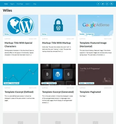 Шаблон WordPress - Wiles