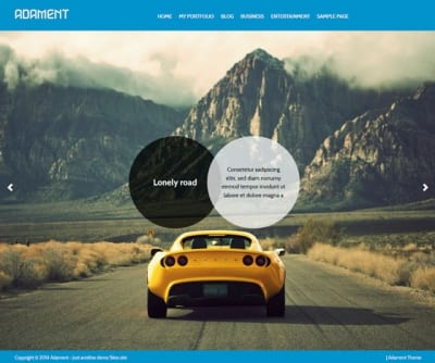 Шаблон WordPress - Adament