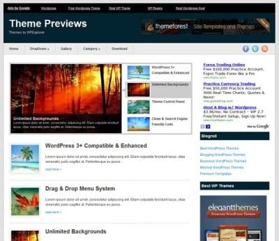Шаблон WordPress - AdCents