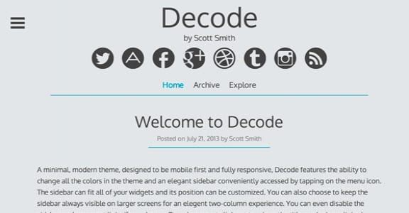 Шаблон Wordpress - Decode