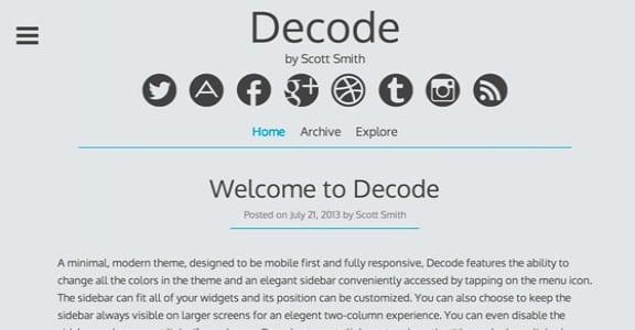 Шаблон Wordpress - Decode