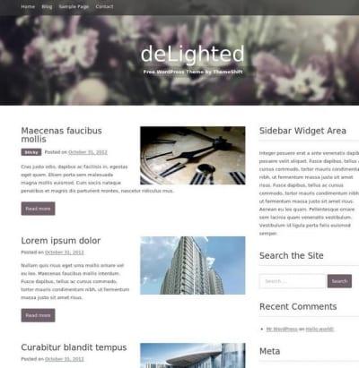 Шаблон WordPress - Delighted