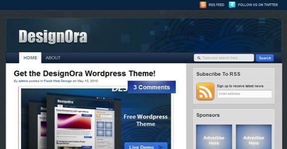 Шаблон Wordpress - DesignOra