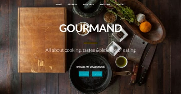 Шаблон Wordpress - Gourmand