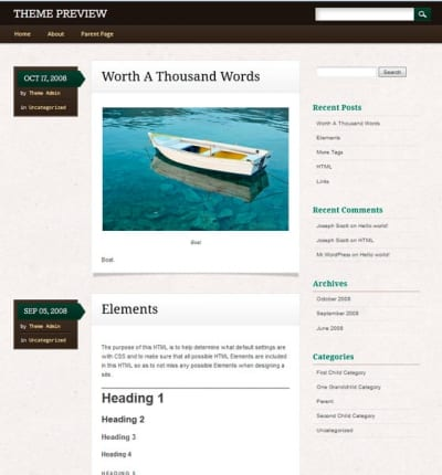 Шаблон WordPress - Infosource