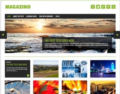Шаблон WordPress - Magazino