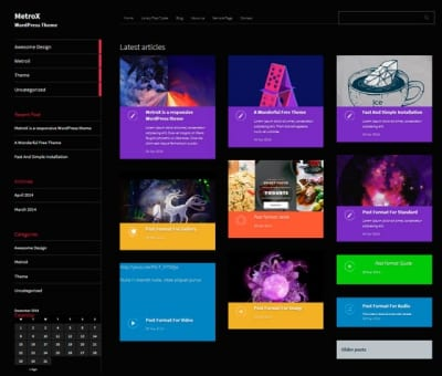 Шаблон WordPress - Metro CreativeX