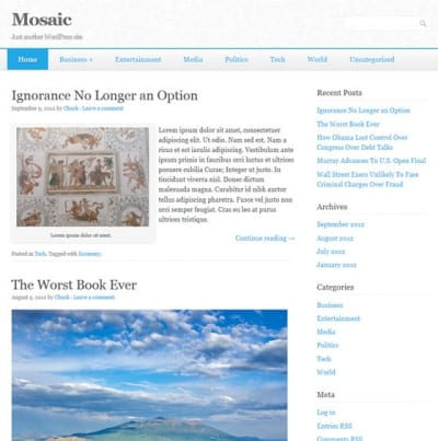 Шаблон WordPress - Mosaic