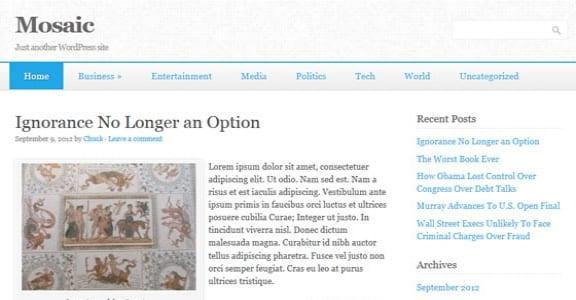 Шаблон Wordpress - Mosaic