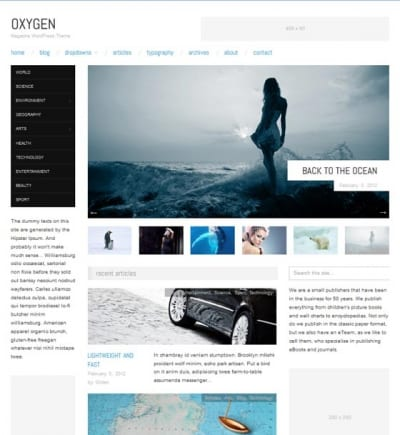 Шаблон WordPress - Oxygen