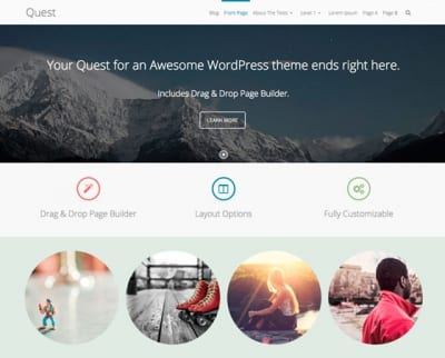 Шаблон WordPress - Quest