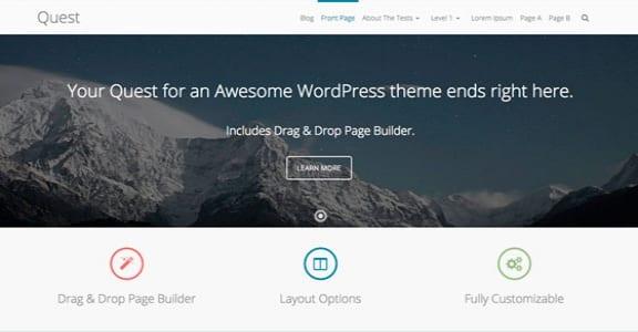 Шаблон Wordpress - Quest