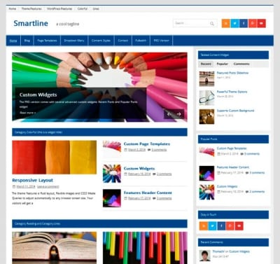 Шаблон WordPress - Smartline Lite