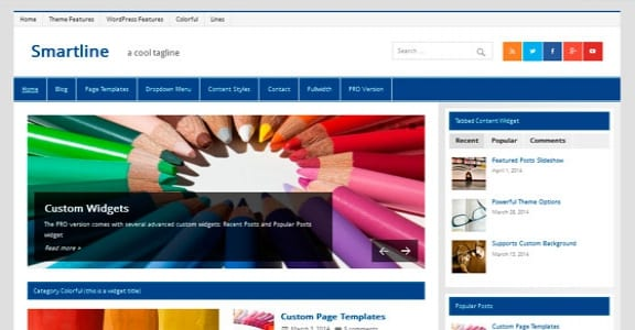 Шаблон Wordpress - Smartline Lite