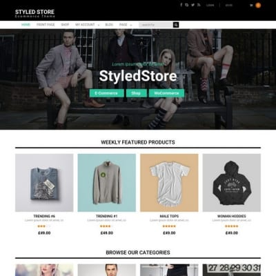 Шаблон WordPress - Styled Store