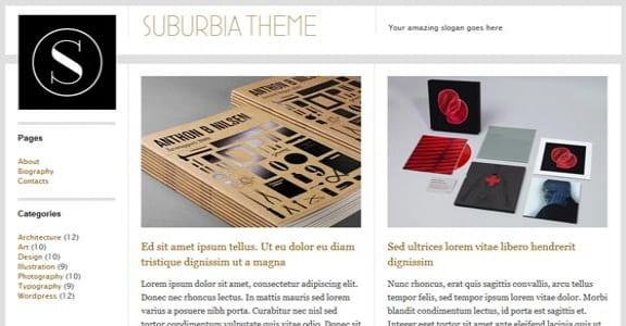 Шаблон Wordpress - Suburbia от WPShower