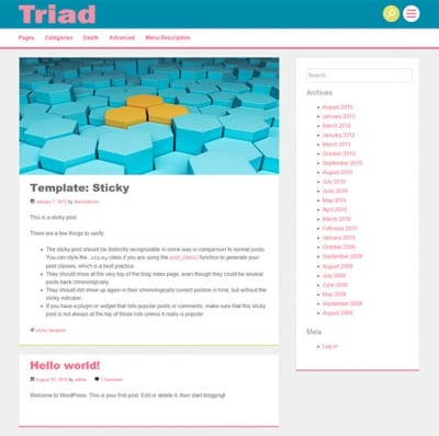 Шаблон WordPress - Triad