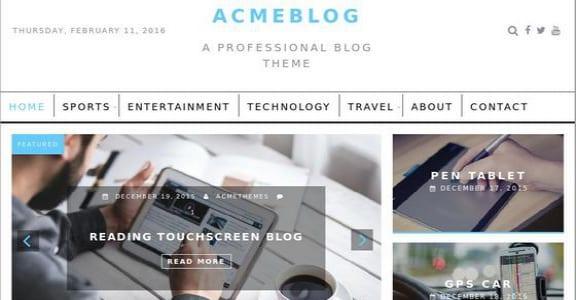 Шаблон Wordpress - AcmeBlog