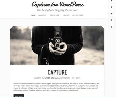 Шаблон WordPress - Capture