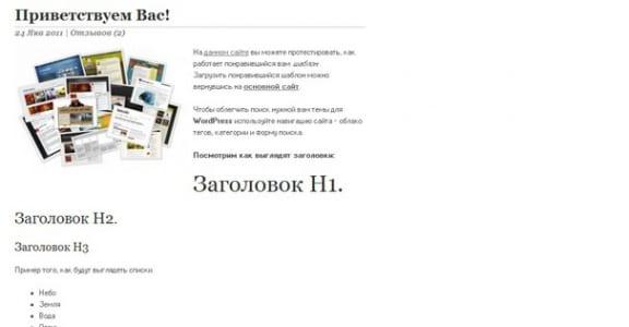 Шаблон Wordpress - Checkmate