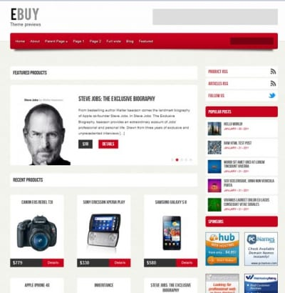 Шаблон WordPress - Ebuy