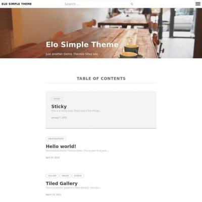 Шаблон WordPress - Elo
