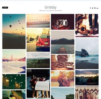 Шаблон WordPress - Gridsby