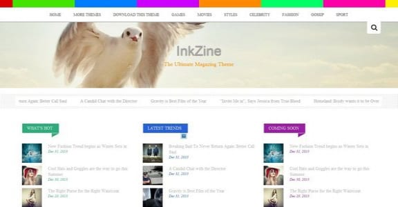 Шаблон Wordpress - Inkzine