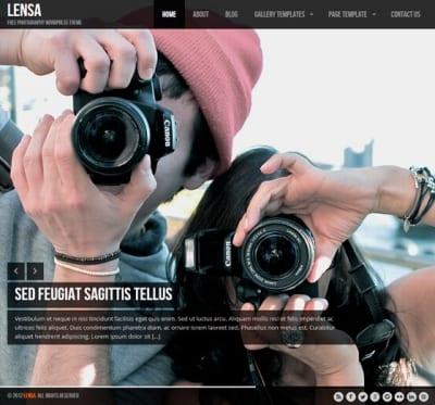 Шаблон WordPress - Lensa