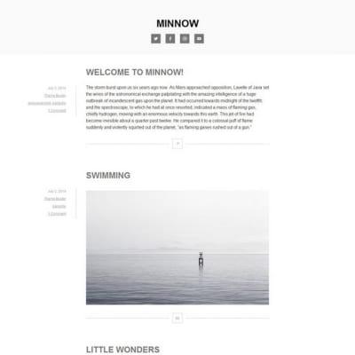 Шаблон WordPress - Minnow