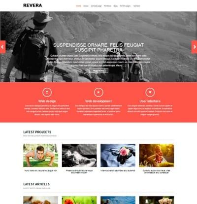 Шаблон WordPress - Revera
