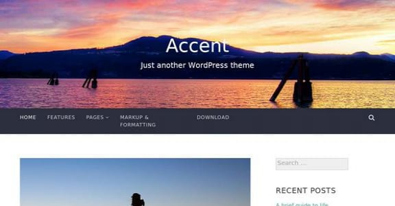 Шаблон Wordpress - Accent
