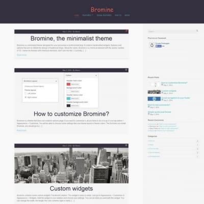 Шаблон WordPress - Bromine