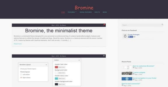 Шаблон Wordpress - Bromine
